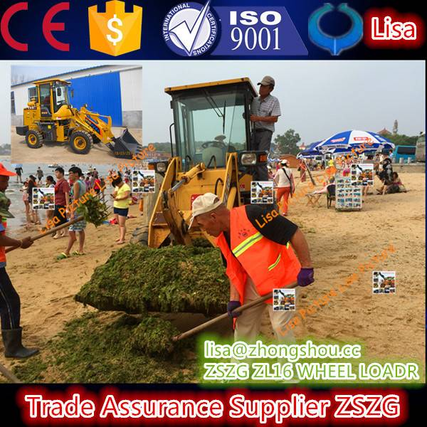 seashore rubbish cleaning mini loader machine zl916 with low price