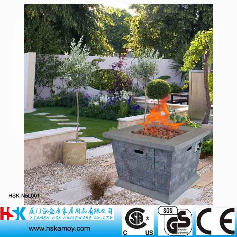 Square Garden Fire Table, Outdoor Fire Bowl, Coutyard Fireplace, Antique Fireplace