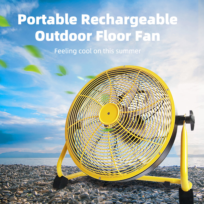 Outdoor HIgh Velocity With USB Output Rechargeable Fan