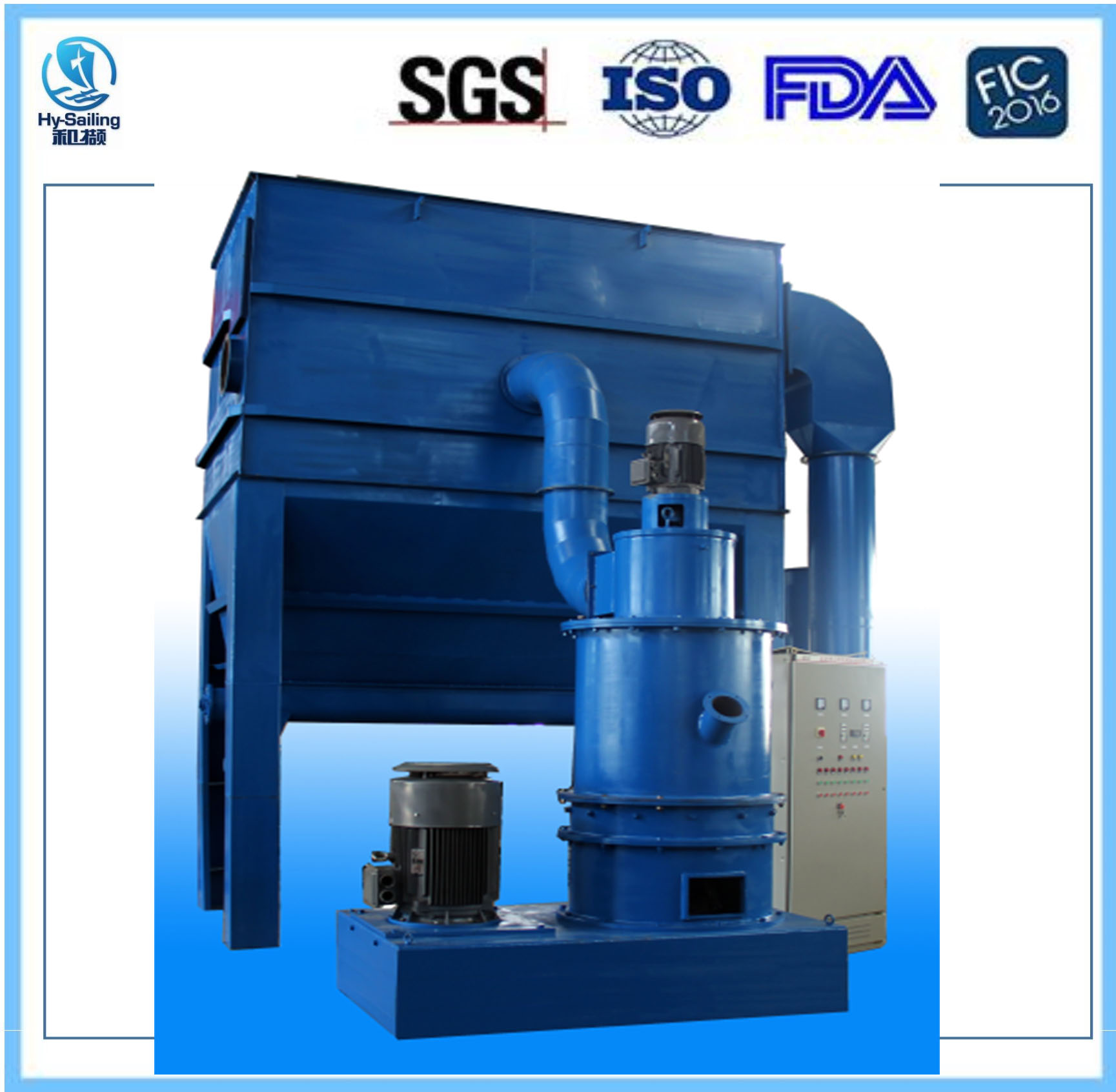 B type Super fine powder Impact Grinding Machine specially for small specific gravity material