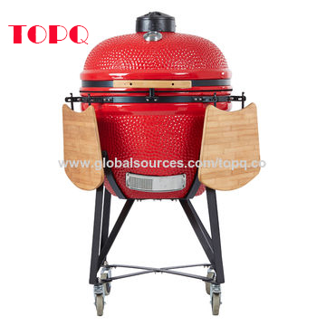 Round 25-inch Ceramic Smoker Grill for Outdoor Barbecue Use