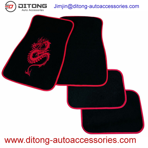 Luxury Dargon Pattern Carpet Material Car Floor Mats