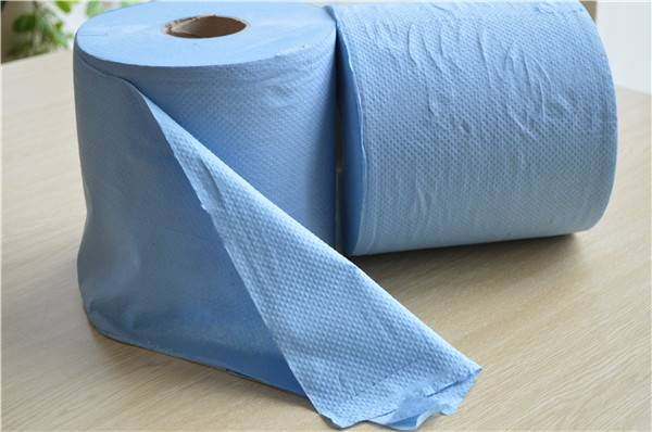 blue hand roll towel paper