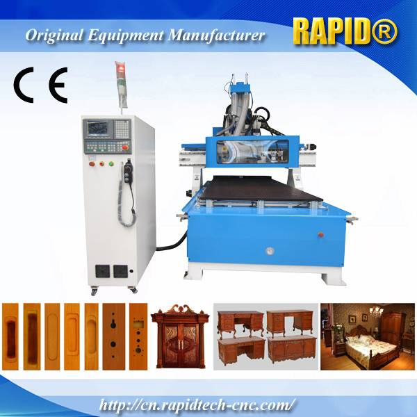 China Rd1325 Furniture Making with Side Drilling Head and Saw Blade Wood CNC Router Machine