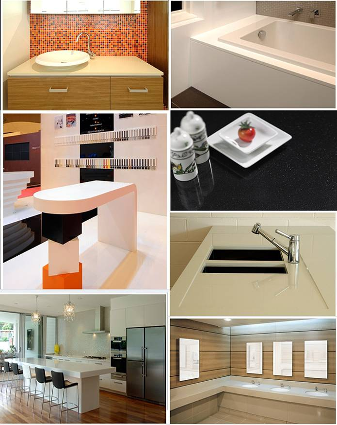 Beautiful Hot Sale one piece bathroom countertop
