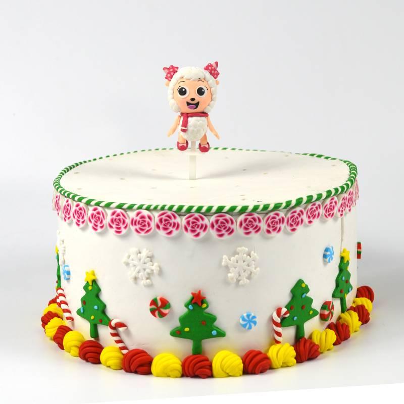 High quality handmade Christmas Father Christmas cake decorating clay dough cake decoration