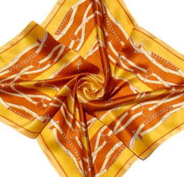 Lady's Fashion Square Silk Printed Scarf