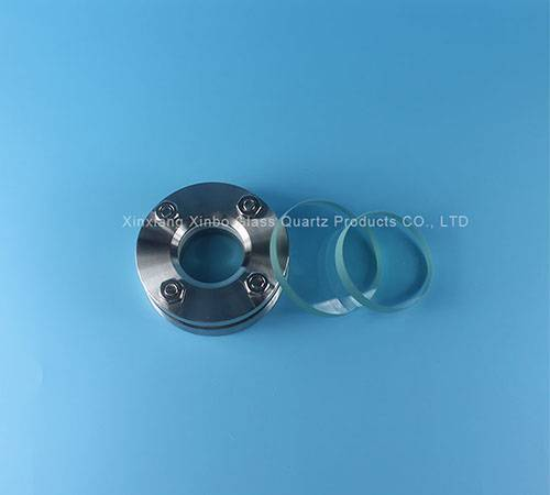 clear circle vavle pyrex glass lenses with flange