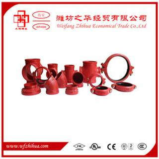 FM UL approval ductile iron grooved fittings