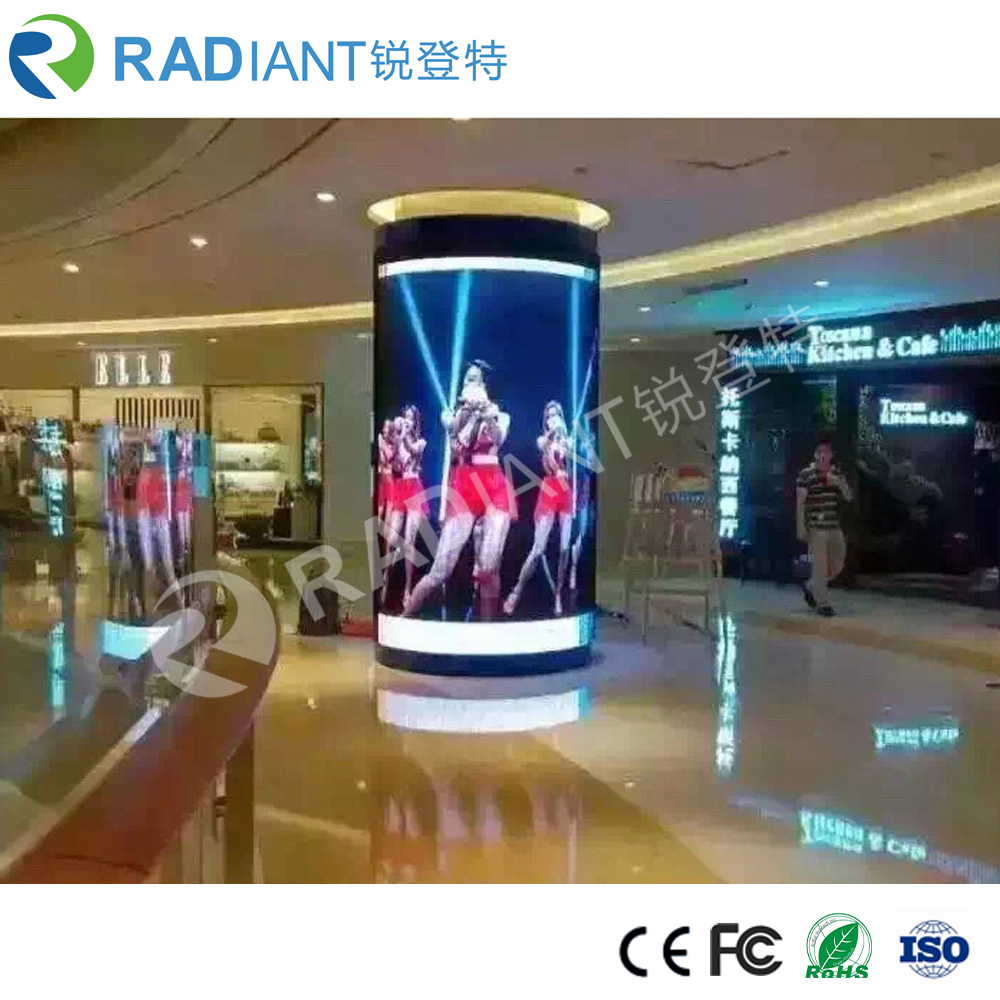 Hot sale P3 round rollable billboard foldable church led display screen