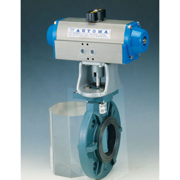 PLASTIC BUTTERFLY VALVE - DOUBLE AUCTING