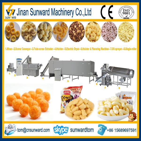 Twin-screw Inflating Snack Food Extruder Machine
