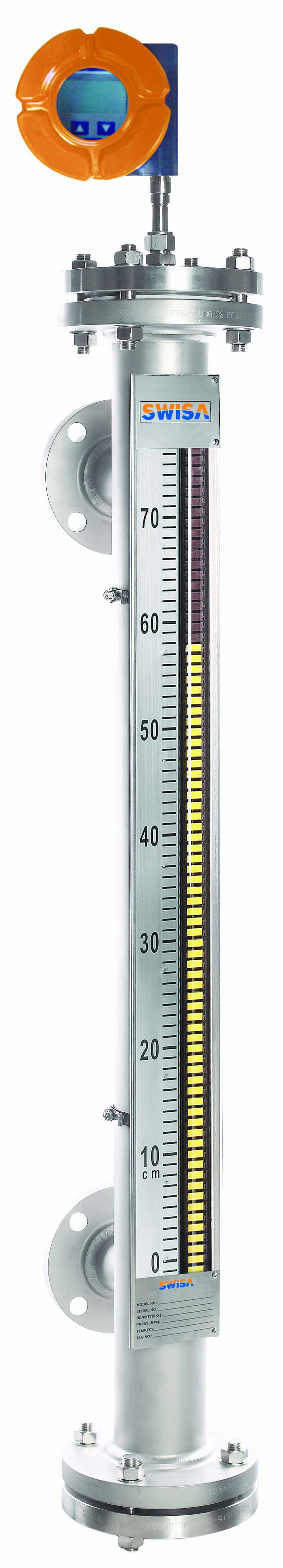 Super-chamber Technical Magnetic Level Gauge