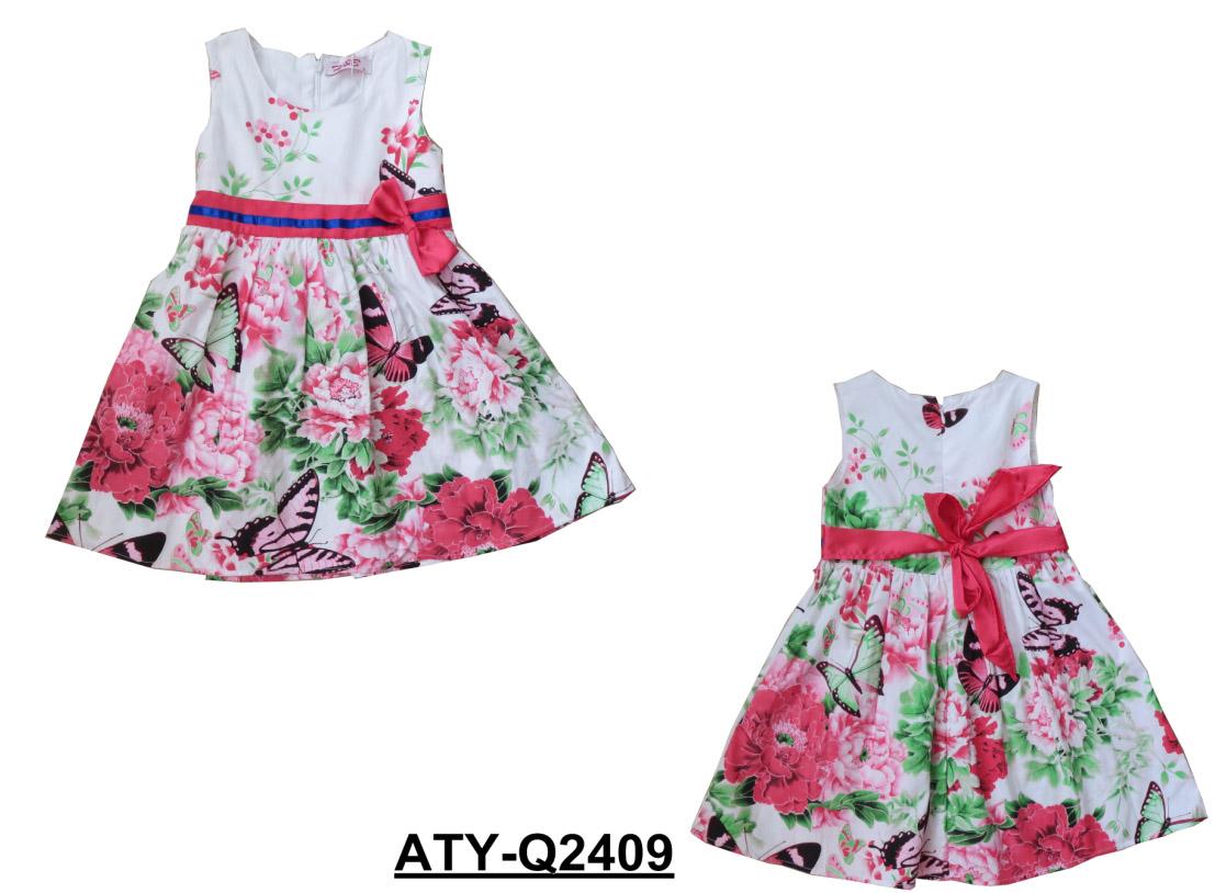 kids girls woven dress,children wear