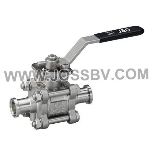 Three-Piece Sanitary Ball Valve Tri-Clamp With High Cycle Direct Mount