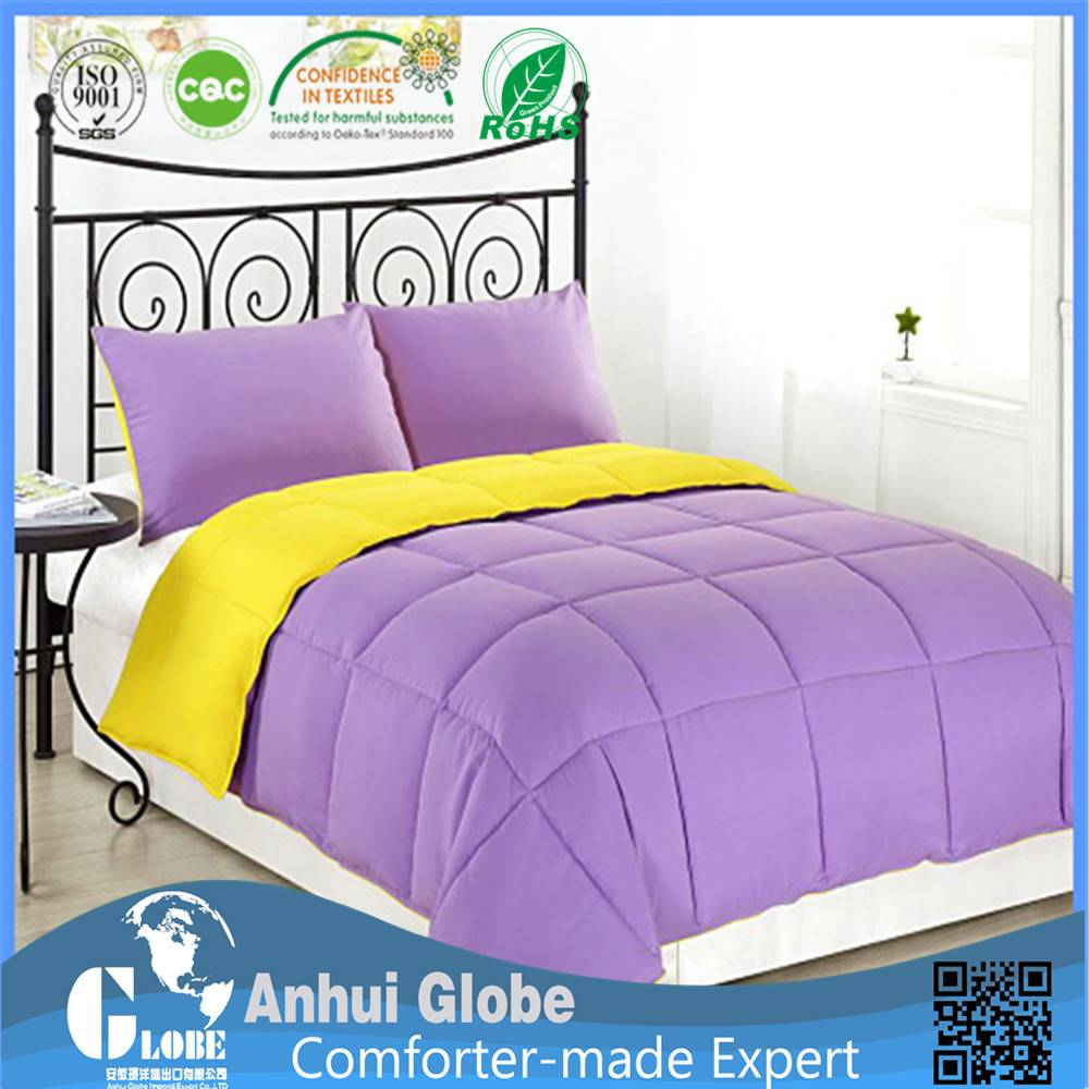 yellow purple comforter