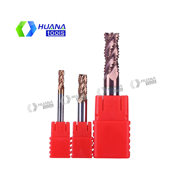 HN 55HRC Carbide Roughing End MIll ,Rouging End mill for Steel ,Rouging end mill for Aluminum
