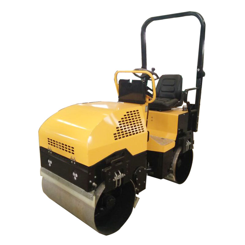 2Ton full hydralic sit-on double drums vibration road roller