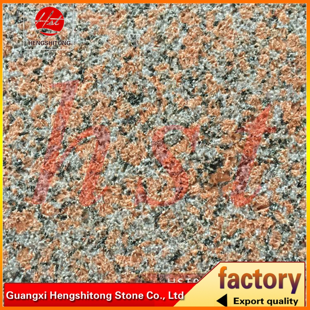 maple red granite tiles with bush hammered surface for flooring tiles