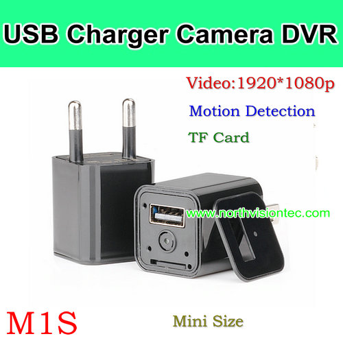 M1S, USB Charger Camera DVR, 1080p/30fps/AVI,Video Sync, Support TF Card, Mini Size, HOT Product