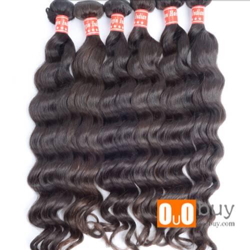 Grade 8A Indian Human Hair More Wave Hair Weaving