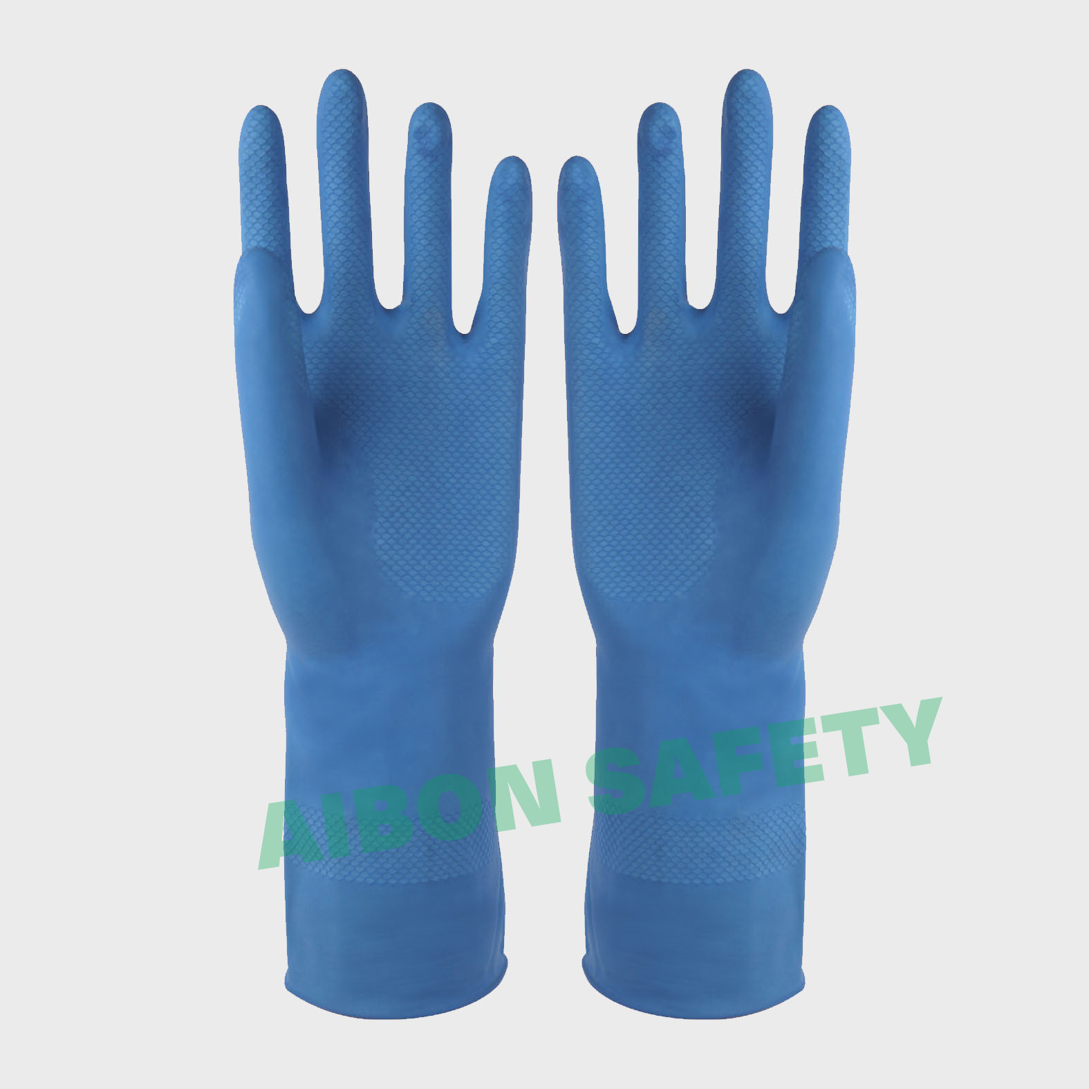 blue rubber glove
