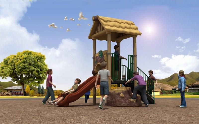 Qualified Forest Hut Series Playground Equipment Outdoor Slide WD-SC103