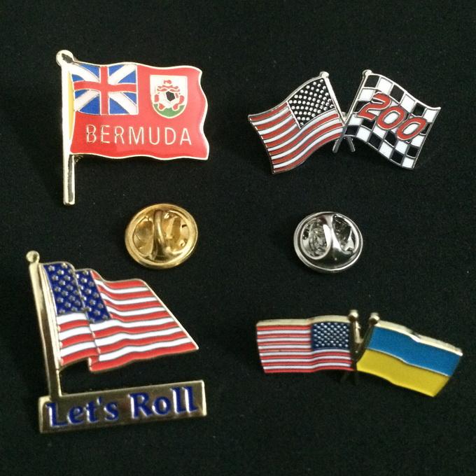 Custom Metal Crafts Country Flags Pin Badge