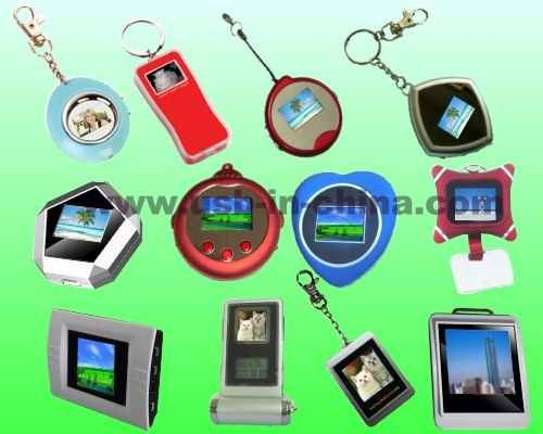 mini electronic digital photo frame with chain