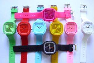 Fashion electric silicone watch wristwatches