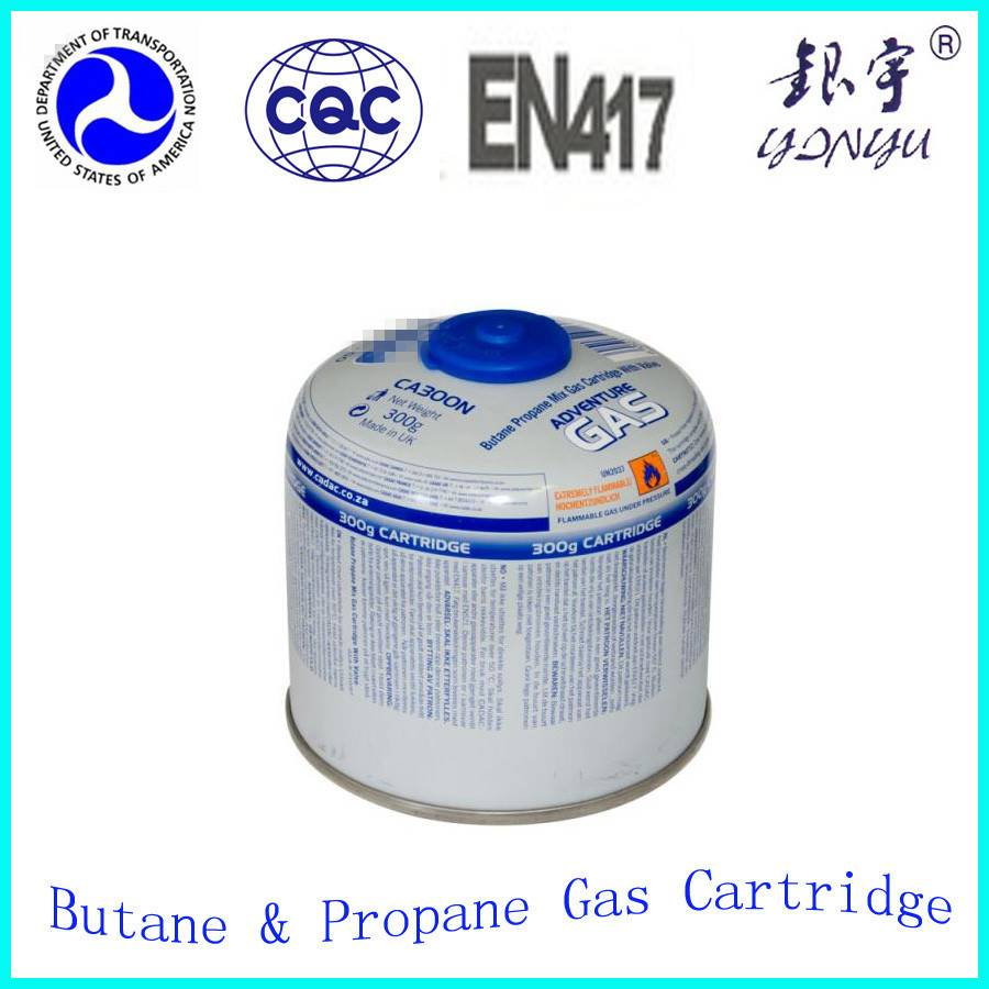 butane gas cartridge 450gr with screw type of valve