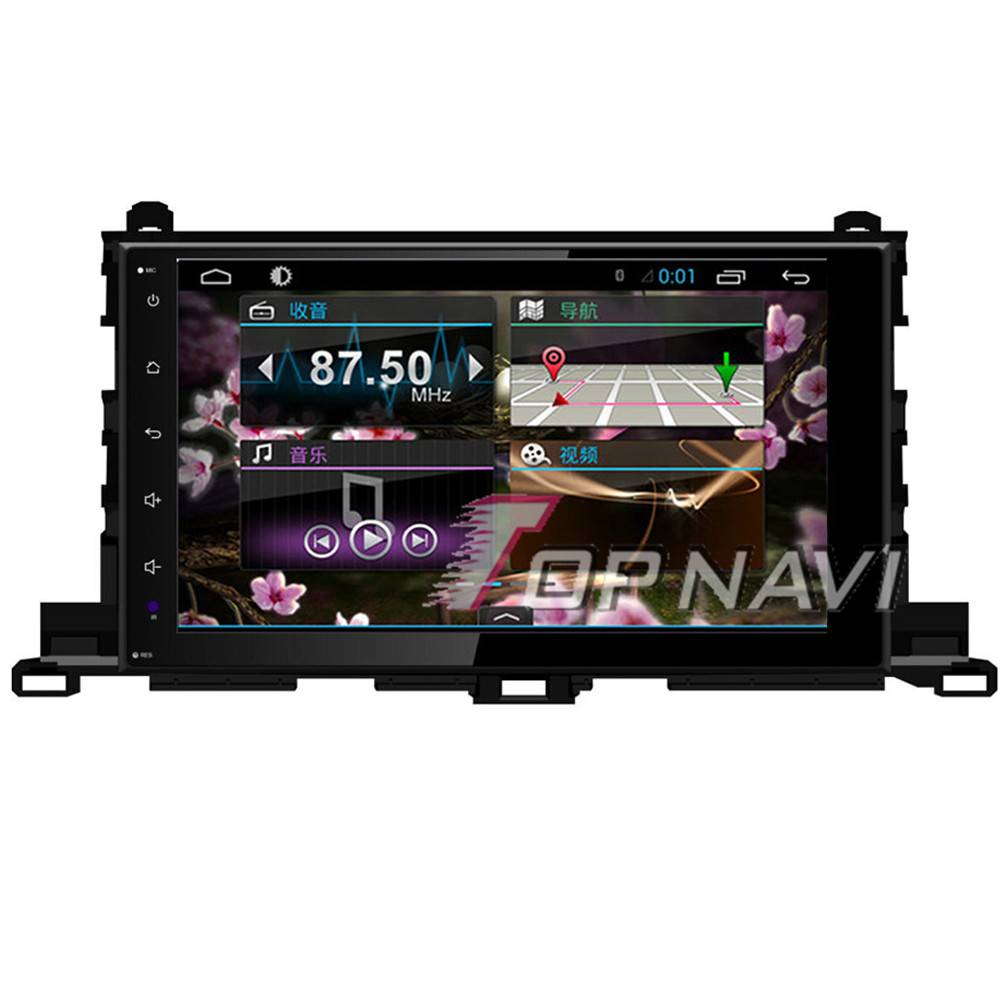 1024*600 10.1inch Android 4.4 Car GPS Video For Toyota Highlander 2015Navigation