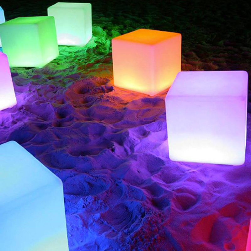 60cm Modern Outdoor Decoration Chair Colors Changing Illuminated LED Cube Chair