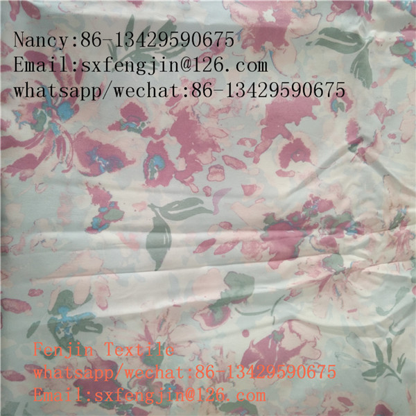 100% rayon printing fabric for dress 110gsm