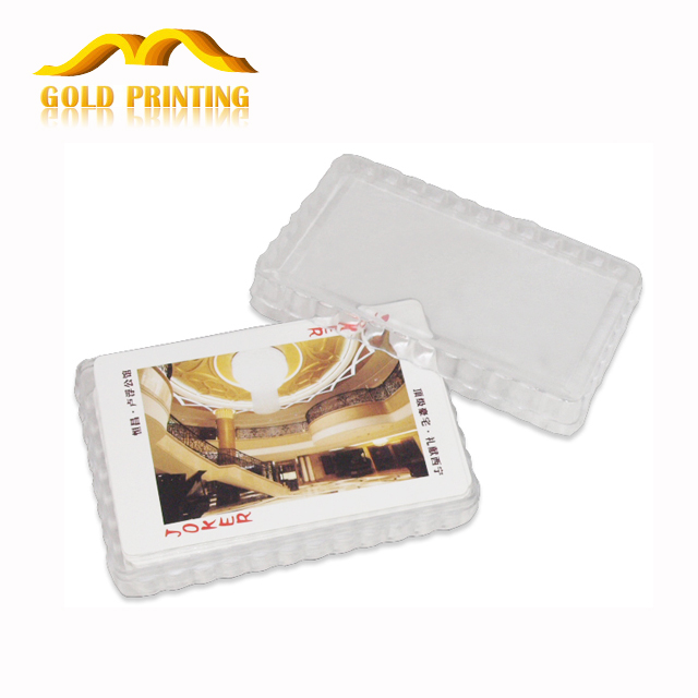 Wholesale custom printing adult mini paper playing cards with pvc plastic box