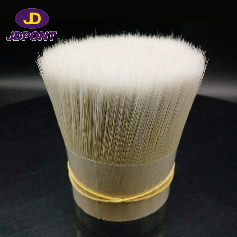 PBT White synthetic hollow brush filament for paint brush