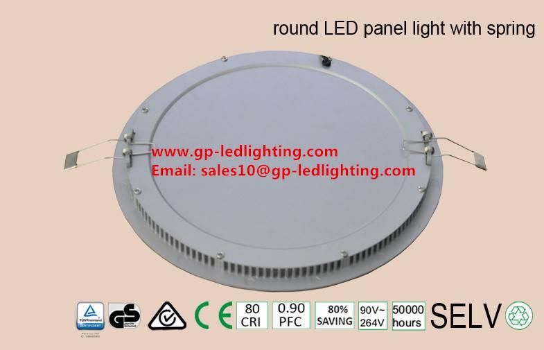 High quality round cornor led panel light