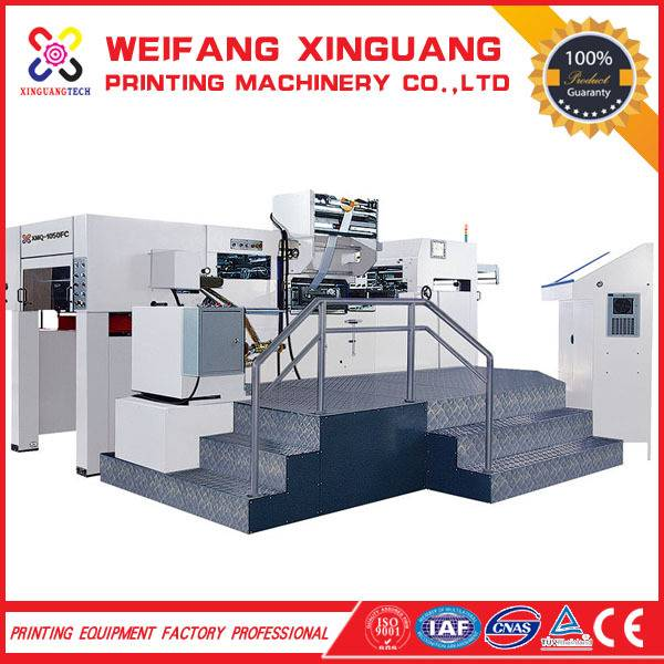 XMQ-1050 FC the automatic die cutting and hot foil stamping machine
