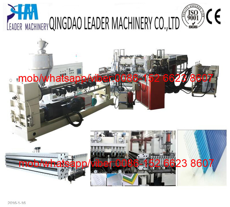 multiwall polycarbonate hollow sheet machine