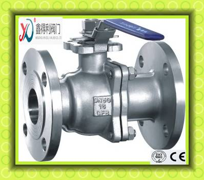 Q41F 2 PC ANSI flanged ball valve with high mounting pad