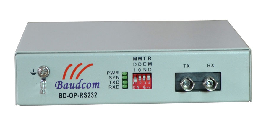 RS232 over fiber optical modem
