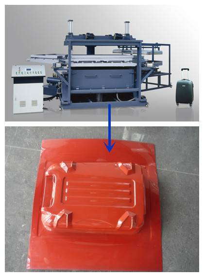 AFXC-1075 PC ABS luggage vacuum forming machine