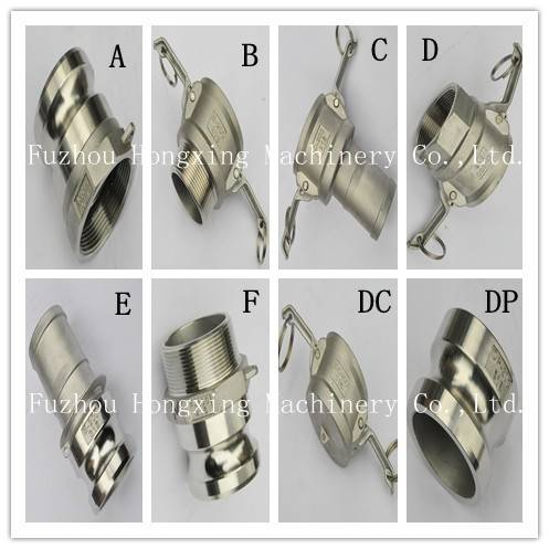 Stainless steel camlock coupling, quick coupling