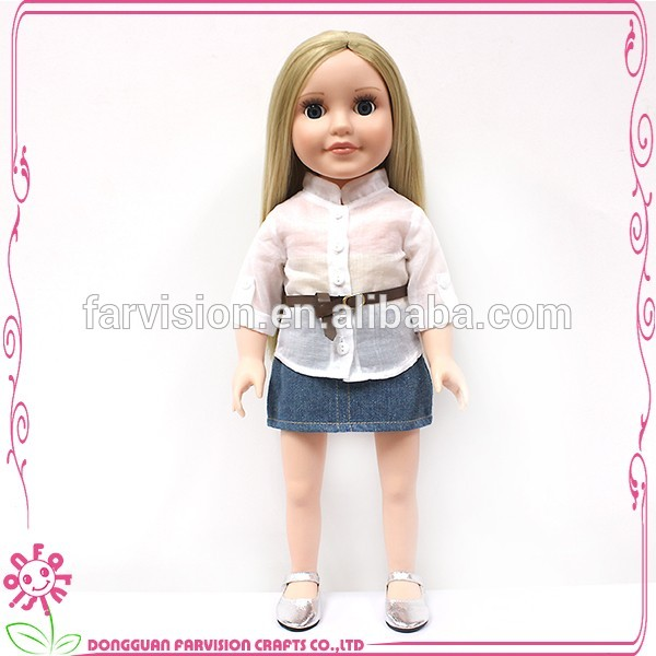 New fashion baby lovely model doll with half cloth body
