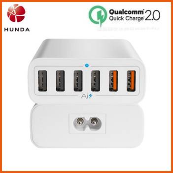 60w Qualcomm 6 Port QC2.0 Rapid USB Charging Station