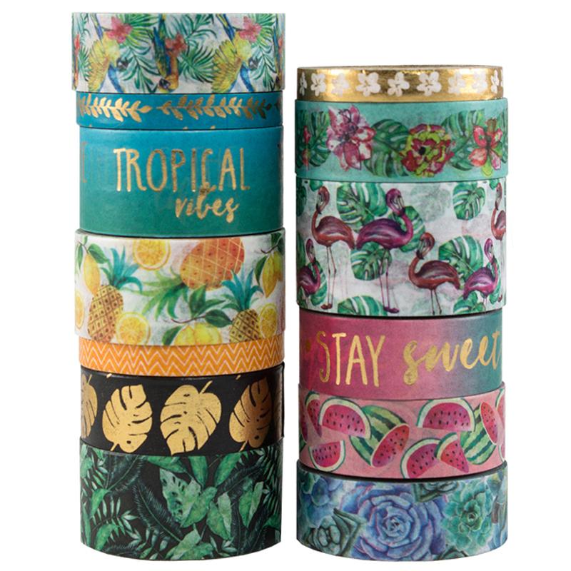 Writing printed custom japanese paper gift box decoration tropical breeze washi tape