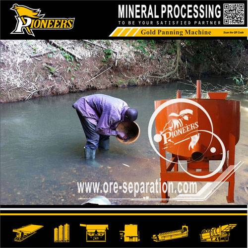 Mini Rotary Gold Panning Machine for Gold processing