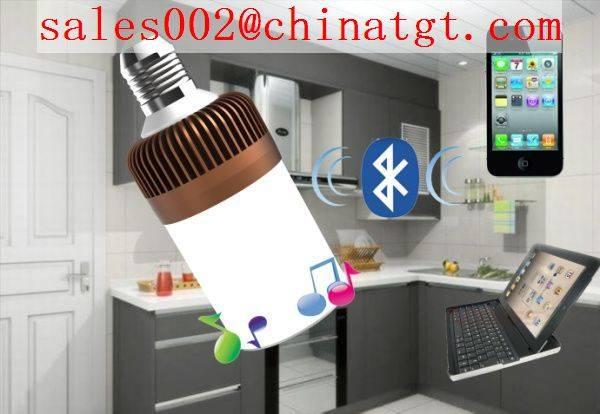 2014 hot selling bluetooth led bulb speaker