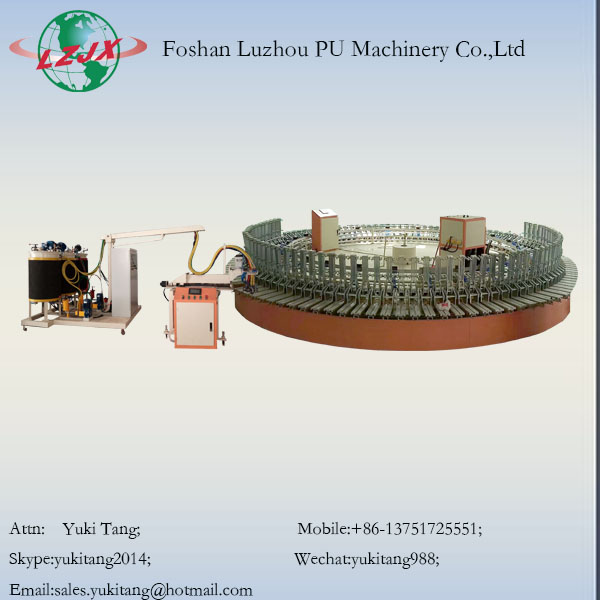 Full Automatic PU Shoes Fomaing Machine