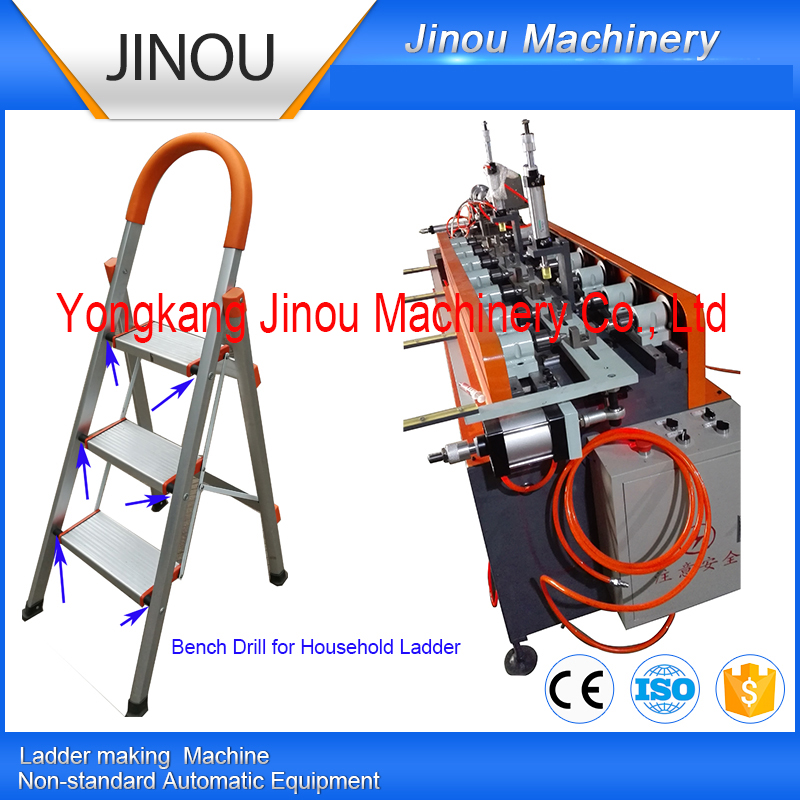 Drilling holes machine for household ladders